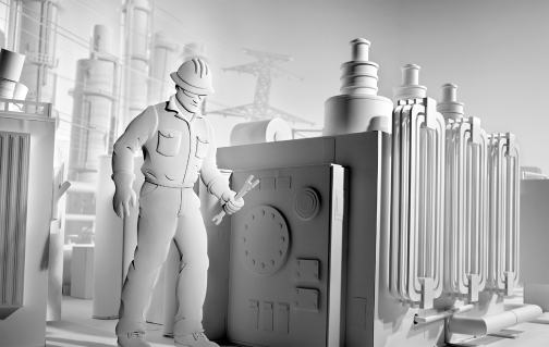 Kevin Twomey - People Burn project - Paper sculpture