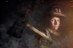 Mindy Gabriel, firefighter, Upper Arlington, Ohio.