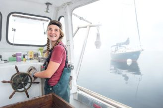 Sadie Samuels, Lobster Fisher, Rockport, ME.